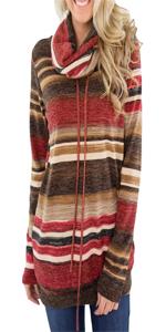 Women Cowl Neck Sweatshirt