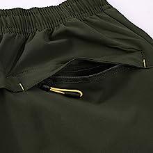 Zipper Pockets camping shorts men climbing shorts men