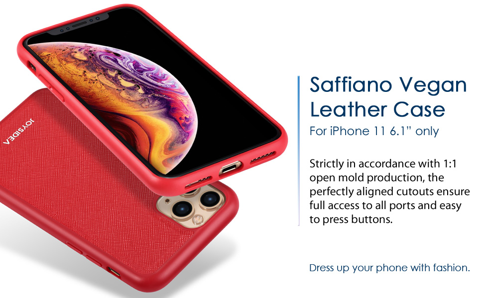 Faux Leather Case for iPhone 11