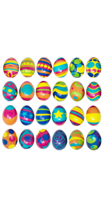 24 PCS Colorful and Squishy Eggs