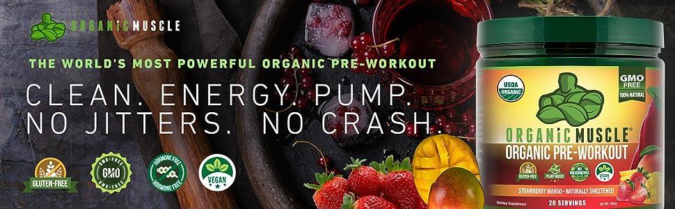 Organic Pre-Workout - Clean Energy, No Jitters, No Crash