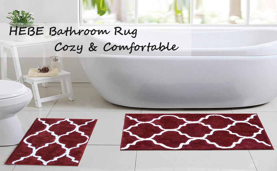 bath rug runner set