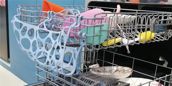 silicone dishwasher net bag basket