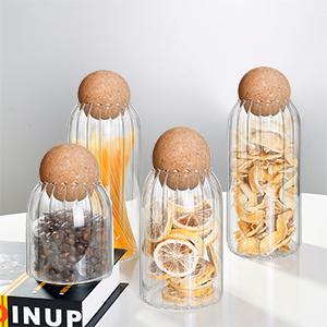3Pcs/Set Glass Jar