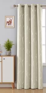 foil print sheer curtains