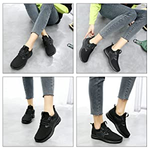 womens running shoes black