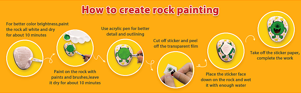 how to create rock painting