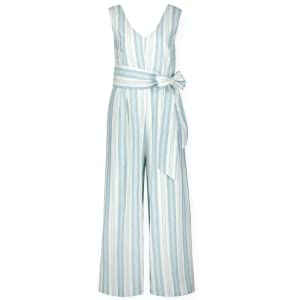 Hope Henry organic cotton women girl teen adult jumpsuit romper stripe sleeveless bow spring summer