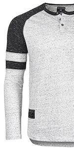 henley raglan button crewneck contrast color block zimego street fashion ootd