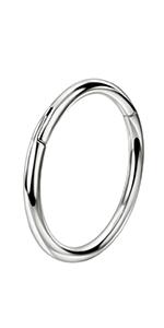 G23 Titanium Nose Hoop 9mm Nose Rings 18 Gauge Nose Ring Hoop Earrings 18g Cartilage Earring