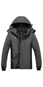 Wantdo Men's Mountain Ski Jacket Waterproof Parka Outdoors Winter Snow Coat
