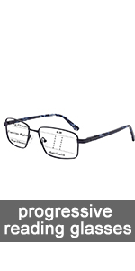 Anti-blue light progressive reading glasses men