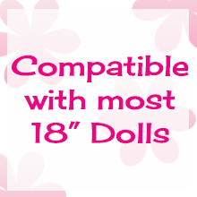 compatible with american girl, 18 inch dolls, our generation
