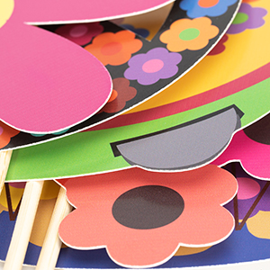 60s party photo booth props