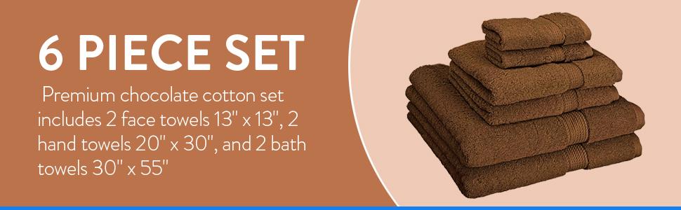 6 piece set towel