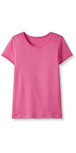 Girls Pima Cotton Short Sleeve Shirt
