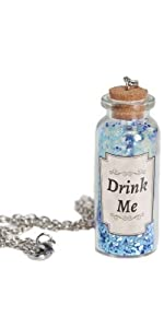 Drink me, alice in wonderland, necklace