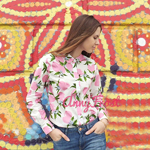 Women Tops Tropical Casual Blouses Long Sleeve Work Button down Dress Beach Aloha Hawaiian Shirt