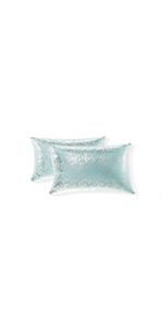 large silver metallic pillows decorative girl pillows king size decor pillow sequence pillow for boy