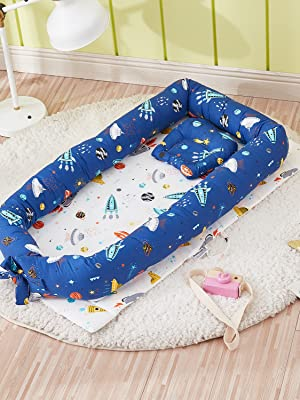 baby nest bed planet rocket