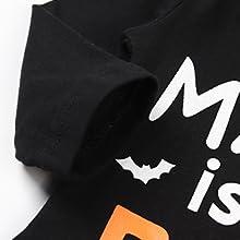 Halloween Pumpkin Print Newborn Baby Boy Girl Clothes Long Sleeve Romper Pants with Hat and Headband