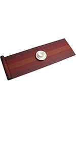 Woven Vinyl Wipe Clean Kitchen Table Runner Non Slip for Dining Table