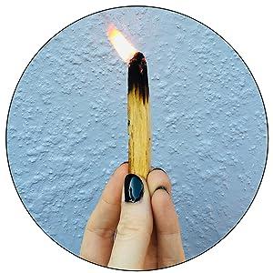 Burning Palo Santo