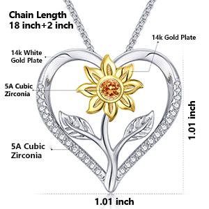 klurent sunflower necklace