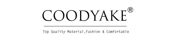 COODYAKE Men's Swim Trunks Logo