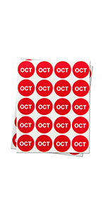 1PK |1 inch - Round Months of the Year: September Stickers