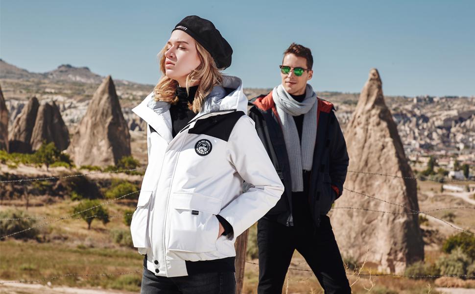 waterproof rain jacket ski coat winter warm
