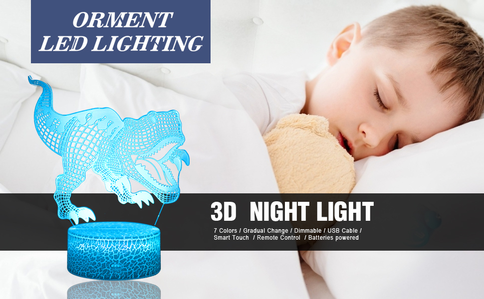 This dinosaur light can be as a gift for kids, friends, family.