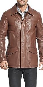 BGSD Men's Hunter Lambskin Leather Coat