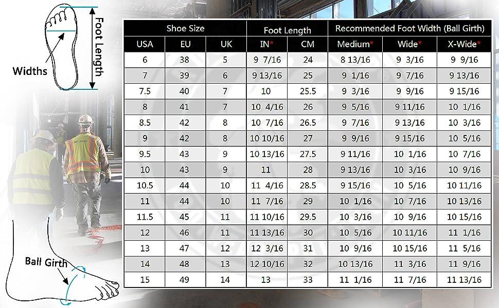 rockrooster AK050 AK050BK size chart