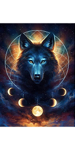 Diamond painting wolf large wolf diamond diamond painting kit wolf prime wolf diamond