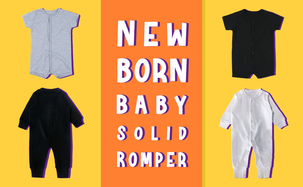 2 Pack Baby Boys Girls Rompers