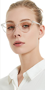 glossy transparent readers for female