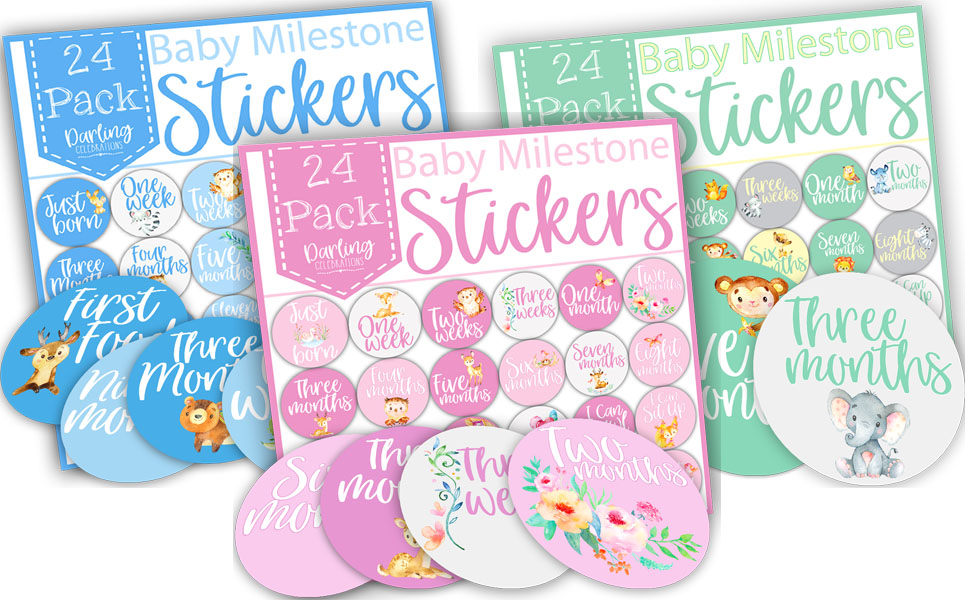 baby milestone stickers, baby weekly stickers, monthly baby stickers, baby milestones