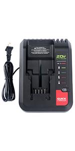 20v charger for Black+Decker  20v battery