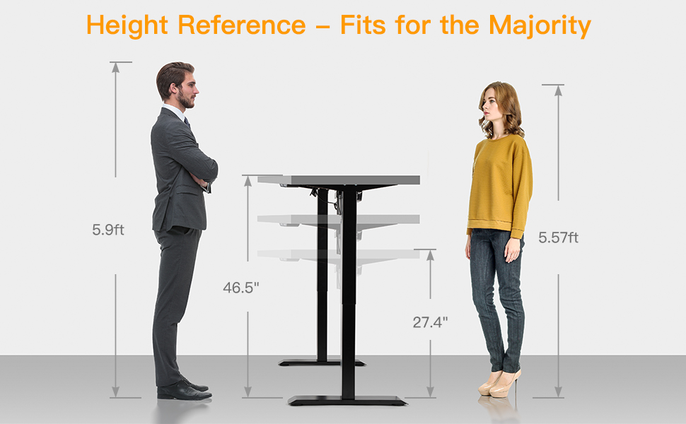 fit for man and women eletric office desk
