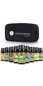 essential oils with travel bag