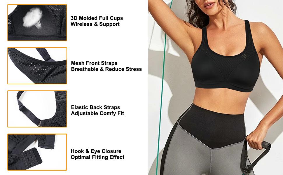 CYDREAM high impact support sport bra mesh fabric - 5