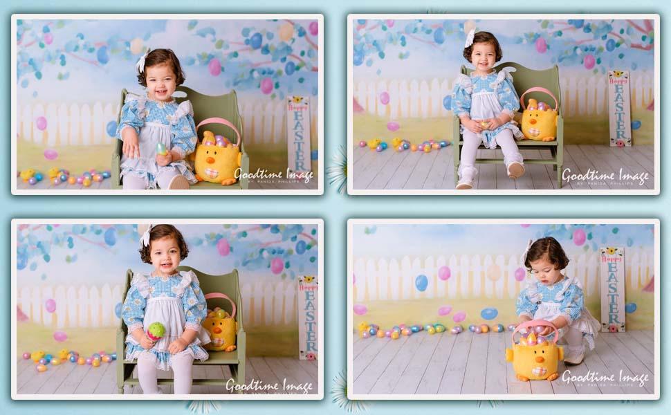 easter egg baby shower spring little girl photoshoot photobooth photo studio prop backdrop