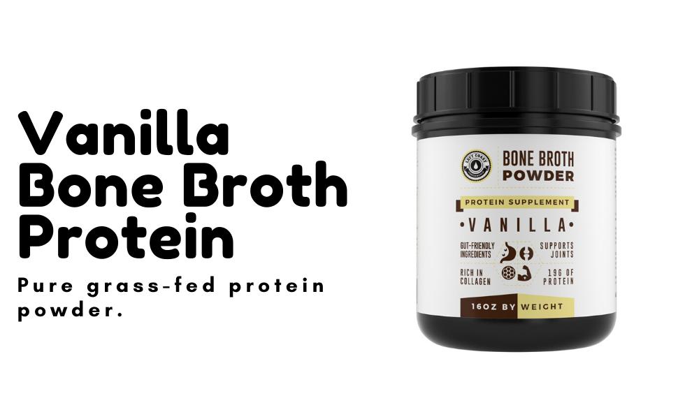 Vanilla Bone Broth Protein Powder Grass Fed