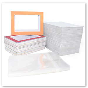 mix color size pre cut mats bundle sets backing board and clear bag kit