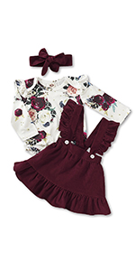Maroon Baby Girl Outfit
