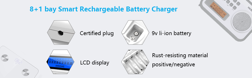 rechargable batteries AAA charger