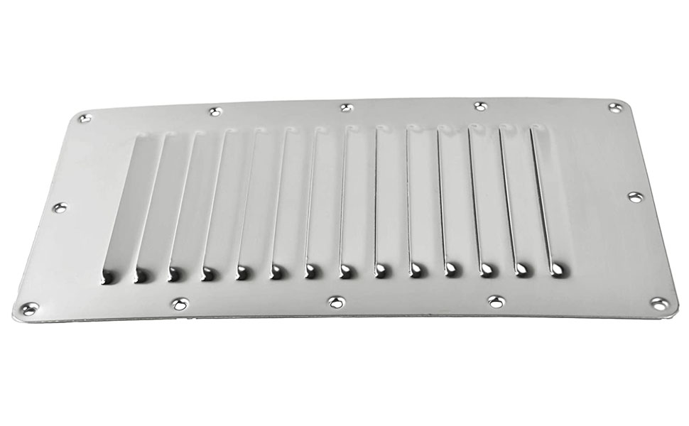 MARINE CITY Stainless Steel 5 9 inches Rectangle Stamped Louvered Vent Portable easy to carry great