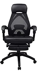 black pu chair