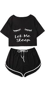 black sleepwear